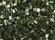 10 gr Miyuki Tila Beads- #TL-306 - Olive Green Gold Luster