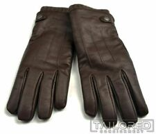 NWT $198 - COACH 3 in 1 Brown Leather Cashmere Mens Luxury Glove 86566 - MEDIUM
