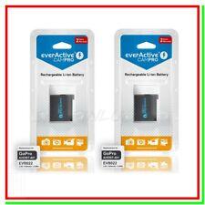 2 Batteria GoPro Hero 4 Pila Ricaricabile 3,7v 1160mah Action Cam AHDBT-401