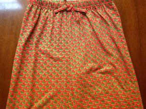 Vineyard Vine Girls Christmas Whale Lounge Pants PJ Bottoms Red Green
