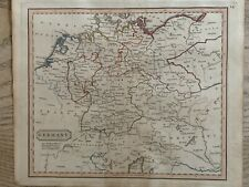 1826 GERMANY HAND COLOURED ANTIQUE MAP BY JOHN CARY 194 YEARS OLD
