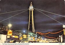 BR89273 the tower showing laser beams blackpool  uk