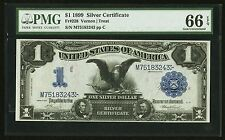1899  $1 SILVER CERTIFICATE BLACK EAGLE FR#228 UNCIRCULATED CERTIFIED PMG-66EPQ