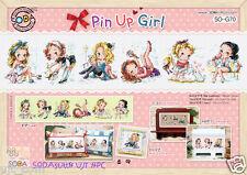 Pin up Girl - Cross stitch pattern book. Big Chart. SODAstitch SO-G70