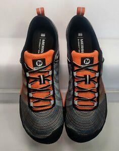 Merrell Vapor Glove 2 Trail Running Shoes Men's Size 9.5 Gray Dark Orange J35883