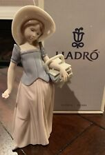 Lladro - Taylor Made 6489 - Girl Sewing Basket (1998) - Retired - Mint In Box