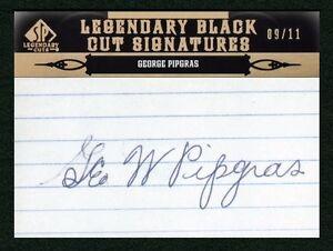 George Pipgras 2011 Sp Legendary Cuts 09/11 Cut Auto Autograph Signature Yankees