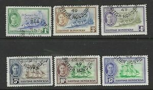BRITISH HONDURAS 1949 KING GEORGE VI ST GEORGES CAY SET SG166-171 - GOOD USED