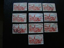 MAROC - timbre yvert et tellier n° 262A x10 obl (A29) stamp morocco (T)