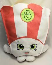 "Shopkins Poppy Corn Popcorn 12"" Embroidered Plush Stuffed Toy Kids EUC"
