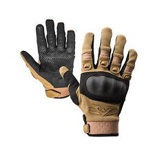 Valken Zulu Tan Tactical Full Finger Paintball Airsoft Gloves Sm Small New