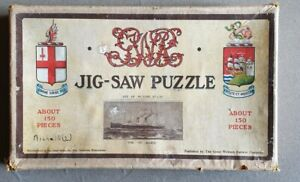 """X951 GWR Wooden Jig-Saw Puzzle The """"St. Julien"""" Complete"""