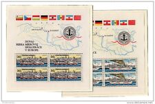 Cecoslovacchia 1982 Commissione del Danubio M / S x 2 ms2641 / 2 MNH X437