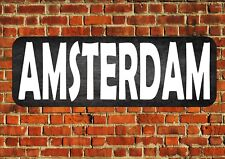 Amsterdam Vintage Sign Retro Style Metal Sign Vintage Wall Plaque Room Sign