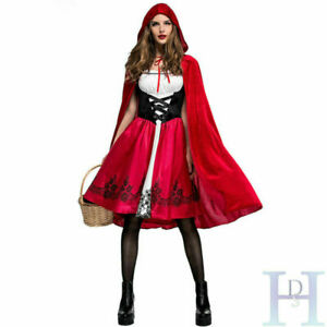 Cosplay Adult Little Red Riding Hood Cape Party Fancy Dress Women Costume