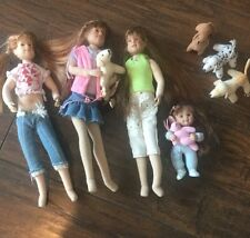 Only Hearts Club Lot Of 3 Dolls With Baby And 4 Pet Dogs!