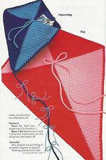 Crochet Pattern ~ Kite Rug & PJ Bag Kids Pajama ~ Instructions