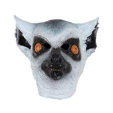 Lemur Animal Full Head Latex Halloween Mask Adult Mens Fancy Dress Costume