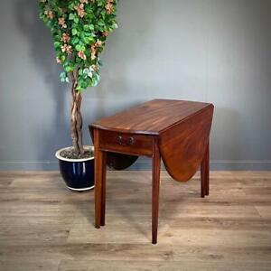 Attractive Antique Victorian Mahogany Drop Leaf Dining Table