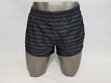 Adidas Adizero Striped Split Running Shorts Mens Black L Large NWT Mesh Brief