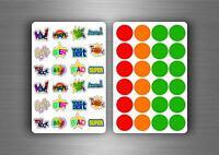 288x stickers reward schools teachers parents awards children kids motivation R2