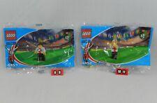 LEGO Coca Cola Japan Soccer 4451 Forward & 4452 Forward Minifig Set NEW Polybags