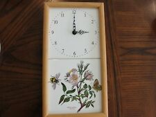 "PORTMEIRION BOTANIC GARDEN CLOCK DOG ROSE 3 1/8"" BY 7"""