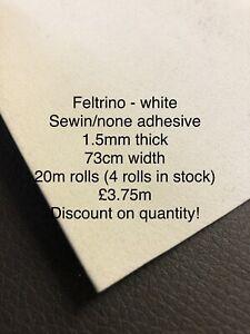Clearance Sew-in Feltrino Stiffener Interlining, Bag Making 73cm 1.5mm Fabric