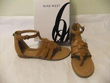 NINE WEST Fairlady Light Brown Tan Natural Gladiator Sandal Thong SZ 10 NIB 70