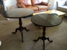 PAIR of Edwardian tilting tables / *** NO RSRV *** / £0.01 start! / Great cond.