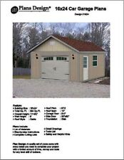 16' X 24' Car Garage Project Plans, Material List Included - Design #51624