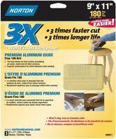 """100 Sheets Norton Saint-Gobain 87396 A475 No-Fil Durite 9/"""" x 11/"""" P150-Grit"""