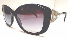 Burberry B 4208-Q 3001/8G Gabardine Lace Gold Metal & Leather Temple Sunglasses