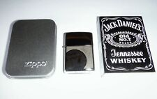 "Used Zippo Lighter Jack Daniels ""Old No. 7"" Polish Chrome In Metal Tin From 2008"