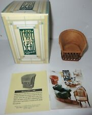Vintage Take A Seat Raine Miniature Dollhouse Mexican Leather Chair C.1980 #2401