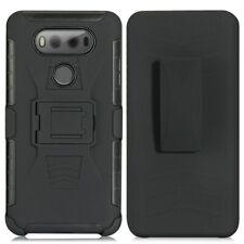 Heavy Duty Kickstand Armor Case For LG G8 G7 G6 G5 V20 Cover Belt Clip Holster