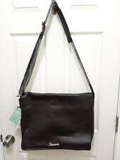 Vespa Italy Black Leather Laptop/Messenger Bag