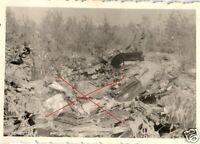 15293/ Originalfoto 6x9cm, abgesch., russisches Flugzeug bei Polki, 1941