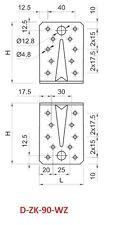90 mm REINFORCED GALVANISED ANGLE L BRACKETS CORNER BRACE TIMBER 2,5mm T