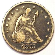 1875-P Twenty Cent Coin 20C - Fine / VF Details - Rare Date 1875 Coin!