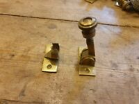 Old brass sash window lock/fastner