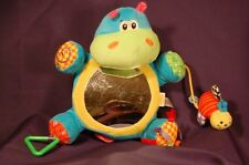 "Infantino Mirror Bumble Bee Rattle Baby  10"" Plush Crib Toy"