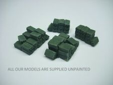 Wargames scenery. Ammo box stacks.1/56 scale. 28mm . 4 pieces. (886)
