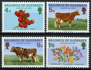 Guernsey 1970, Domestic agriculture set MNH, Mi 31-34 cat 22€