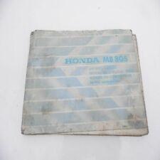 Honda   MB 80 S Betriebsanleitung Handbuch Service manual MB80s
