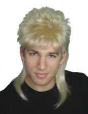 Mullet Wig Blonde Hair 70's 80's Bogan Men's Fancy Dress Costume Wig