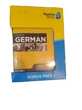 ROSETTA STONE Learn GERMAN - LIFETIME BONUS PACK - NEW - SEALED!!! FREE SHIP!