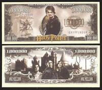 Lot of One New Note Set Harry Potter Banknotes 1 Million GRYFFINDOR Novelty Note