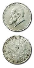 Austria Theodor Billroth Geb 2 Schilling 1929 Extra Fine KM-2844
