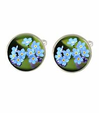 Forget Me Not Flower Mens Cufflinks Ideal Birthday Fathers Day Gift C658